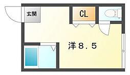 プラ・ディオ大和田[1階]の間取り