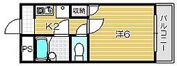 ロイヤルミサワ[6階]の間取り