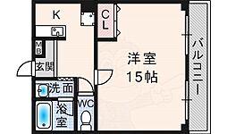 フォレスト・ヒル櫻 2階1Kの間取り