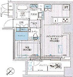 イニシア築地レジデンス 11階1LDKの間取り