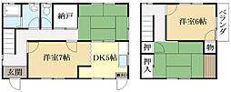 [一戸建] 京都府城陽市平川山道 の賃貸【/】の間取り