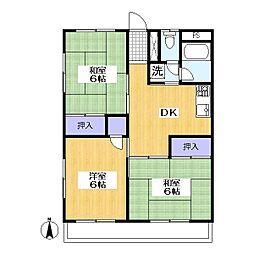 グロリアマンション[1階]の間取り