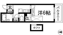 大阪府池田市渋谷2丁目の賃貸アパートの間取り