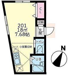 カーサデナル上永谷(カーサデナルカミナガヤ)[2階]の間取り