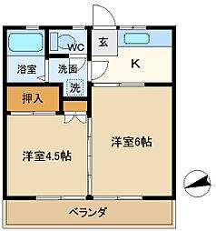 第5平成ビル 202[2階]の間取り