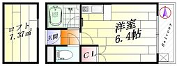 ビスタ千里丘V[3階]の間取り