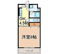 静岡県富士市岩本の賃貸マンションの間取り