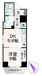 ビィ・フォルマ東日本橋 8階1DKの間取り