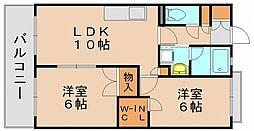 バルザックコロニー[3階]の間取り