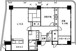 セレーノ西宮[701号室]の間取り