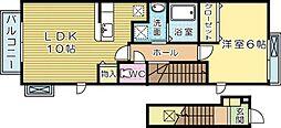 ベルムーン B棟[2階]の間取り