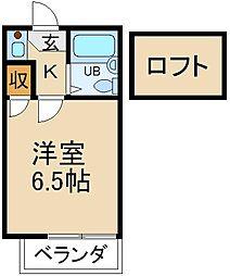 大阪府寝屋川市三井南町の賃貸アパートの間取り