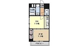 ライオンズマンション四条西洞院[303号室号室]の間取り