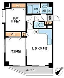 ヒルサイト&23643;風ヶ浦[402号室]の間取り