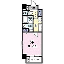 高松琴平電気鉄道琴平線 三条駅 徒歩11分の賃貸マンション 5階1Kの間取り