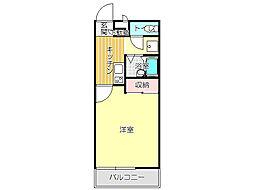 JR筑豊本線 本城駅 徒歩35分の賃貸マンション 1階1Kの間取り