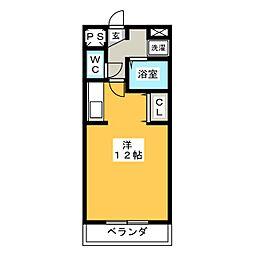 フラワーアイランド江島II[1階]の間取り