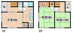 [一戸建] 兵庫県神戸市須磨区東町3丁目 の賃貸【/】の間取り