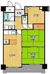 ラフォーレ武庫之荘[3階]の間取り