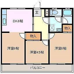 三重県桑名市大字桑名の賃貸アパートの間取り