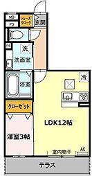 愛知県名古屋市千種区千種2丁目の賃貸アパートの間取り