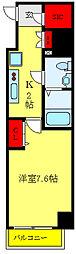 都営三田線 西巣鴨駅 徒歩8分の賃貸マンション 10階1Kの間取り