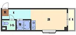 ドゥリーエム園田 4階1Kの間取り