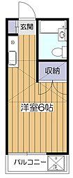 東京都西東京市芝久保町3丁目の賃貸アパートの間取り