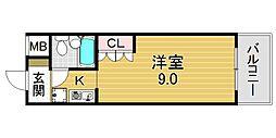 フラット平野南[6O1号室号室]の間取り