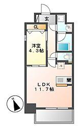レジデンシア花の木[9階]の間取り