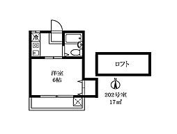 大岡山グレイス[202号室]の間取り