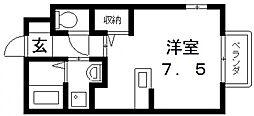 メゾンドゥ長瀬II[202号室号室]の間取り