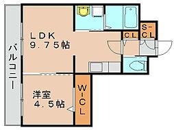 ロイヤルエスト3[1階]の間取り