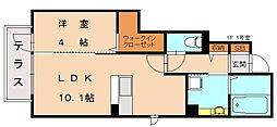 KISHI HEIGHTS(キシハイツ)[1階]の間取り