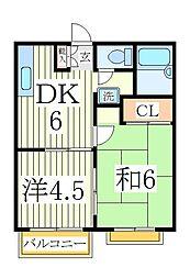 ハイライズタケヤマ[2階]の間取り