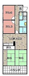 吉野町スカイマンション205[205号室]の間取り