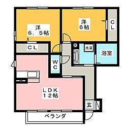 シーキューブ[1階]の間取り
