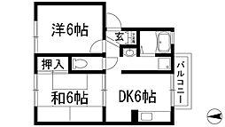 フラワーレジデンス[2階]の間取り