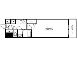 Osaka Metro中央線 九条駅 徒歩2分の賃貸マンション 4階1Kの間取り