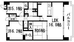 パルコート川西ラッフィナート[9階]の間取り