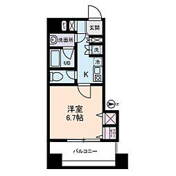西川ビル[9階]の間取り