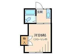 みどりコーポ[2階]の間取り