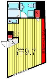 THE RESIDENCE toshima-chihaya 1階ワンルームの間取り
