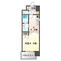 アスリート江坂II番館[10階]の間取り