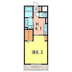 仮)D−room刈谷市矢場町B棟[203号室]の間取り