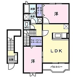 ウィンヒルズA[2階]の間取り