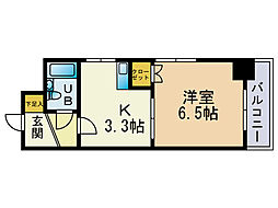 オクト大手門[7階]の間取り