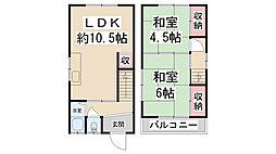 [テラスハウス] 兵庫県川西市鼓が滝2丁目 の賃貸【/】の間取り