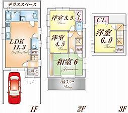 [一戸建] 兵庫県神戸市兵庫区湊川町10丁目 の賃貸【/】の間取り