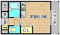 サンフェイム黒田[3階]の間取り